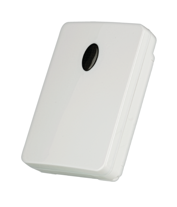 Splash proof, wireless dusk/dawn sensor with programmable switch-off delay.