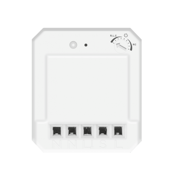 250 Watts Build-in halogen dimmer (trailing edge) with 6 memory addresses.