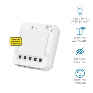 High-performance build-in dimmer to wirelessly control your lights
