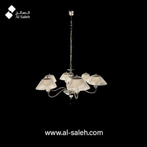 Multi arm ceiling pendant in a polished chrome finish