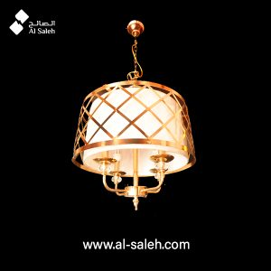 Decorative Pendant Light Metal + Fabric Body