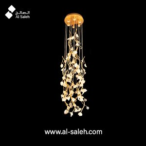 Decorative Long Ceramic Floral Pendant light