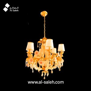 Decorative Ceramic Floral Chandelier