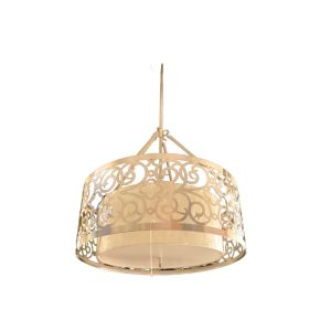 Adjustable Decorative Pendant light Metal+Glass Body Silver