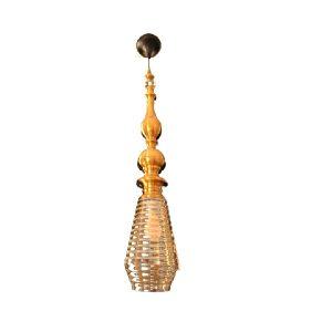 Vintage antique brass single pendant