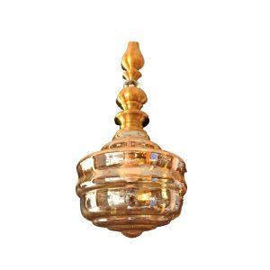 Vintage antique brass single ceiling pendant
