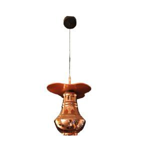 Copper shaded Glass pendant light