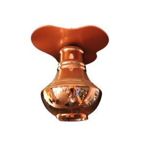 Copper shaded Glass pendant light
