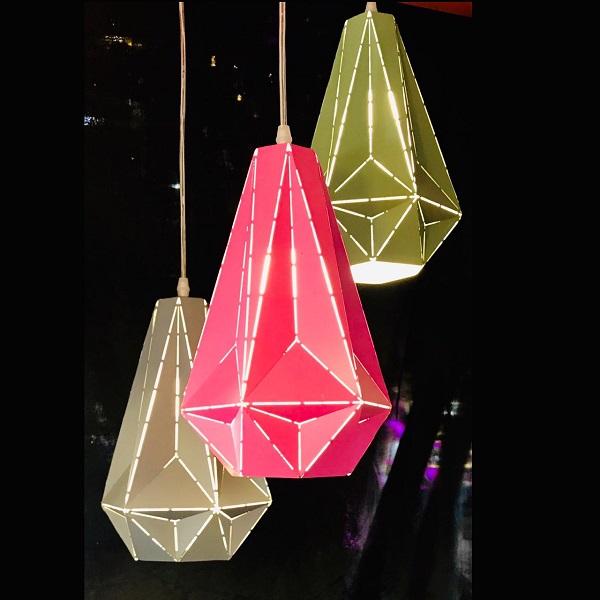 Tri-Color Decorative Pendant Light