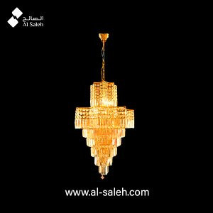 Luxury Hanging Gold Finish Crystal Chandelier