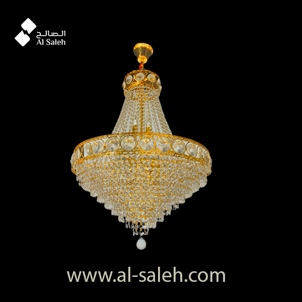 Luxury Gold finish Crystal Chandelier