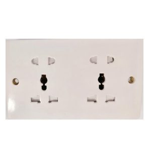 Double Universal Wall Electric Socket – UKS