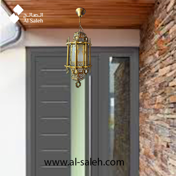 Classical Design Hanging Entrance Light Body Color Anti Brass