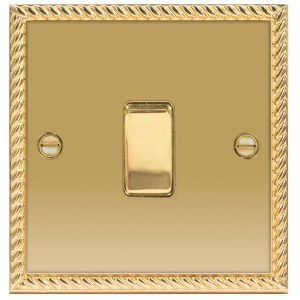 Decorative Metal Switch 1 Gang 2 Way Switch With 10AX Plate – BG