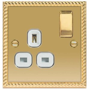 Decorative Metal Switch 13A DP Single Switch Socket – BG