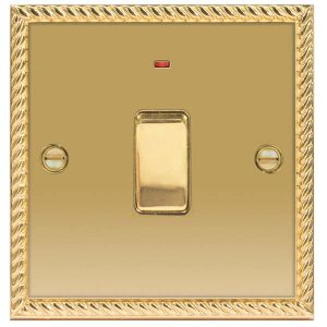 Decorative Metal Switch 20A DP Switch With Power Indicator – BG