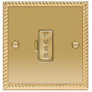 Decorative Metal 13A Unswitched Fused Connection Unit – BG