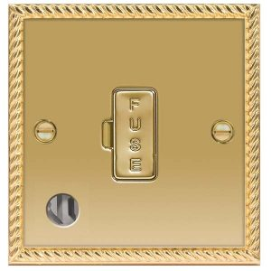 Decorative Metal 13A Unswitched FCU With Data Outlet – BG