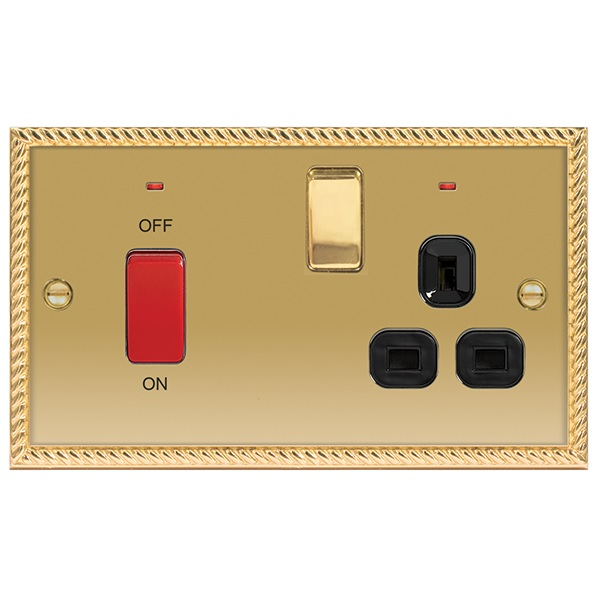 45A COOKER SWITCH+13A SWITCH SOCKET