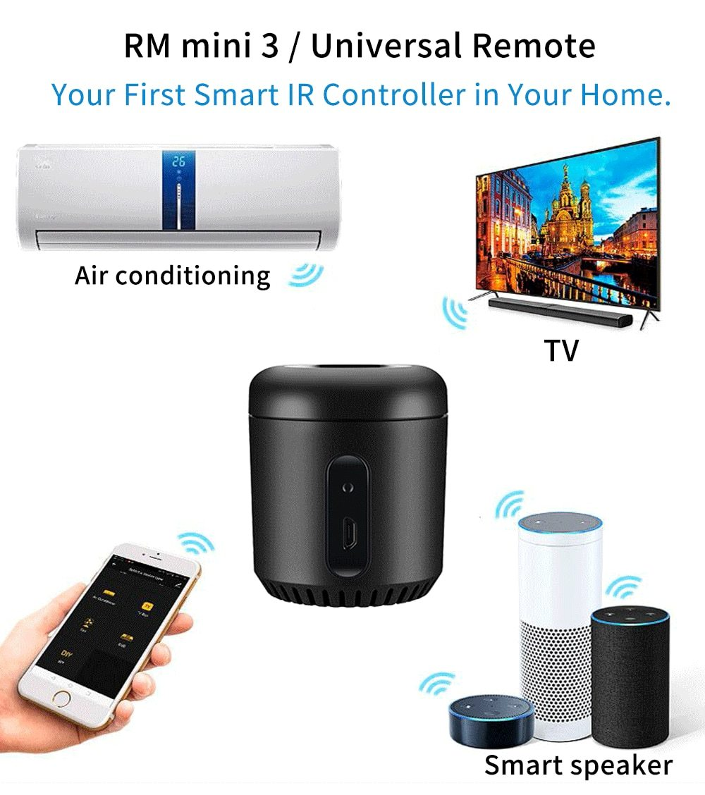 Smart Home Universal Wifi IR Remote Controller.
