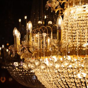 Golden Crystal Chandelier