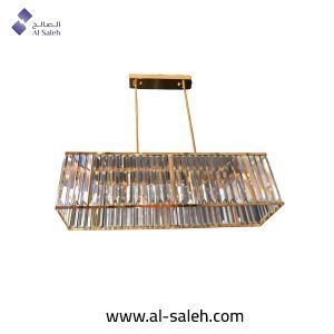 rectangle chandelier gold