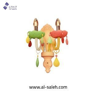 Decorative multicolored wall light
